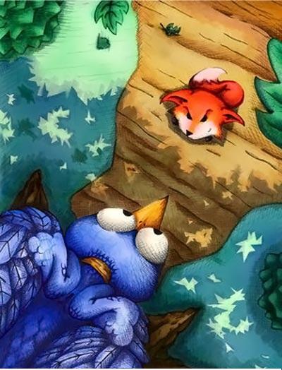 عکس روباه و کلاغ
